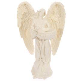 Engel theelichthouder, staand 23cm
