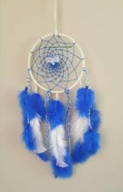Hand-made Dromenvanger 15cm Blauw / Wit