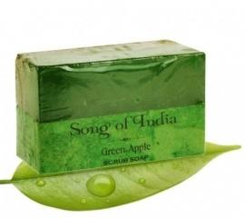 kruiden scrub zeep met essentiele olien en green appel