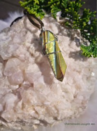 Regenboog Aura hanger aan koord