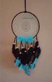 hand-made Dromenvanger Aqua blauw 22cm met beschermengel