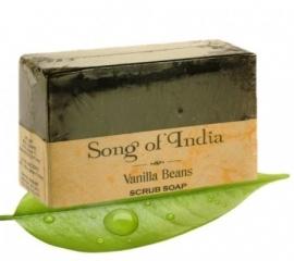 kruiden scrub zeep met essentiele olien met vanille
