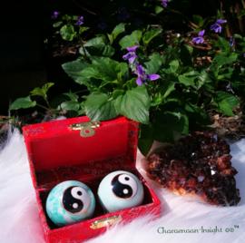 Meridiaankogels Yin Yang Ti Chi mint groen