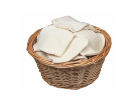 Wasbare mini washandjes in bulk - 50 st.