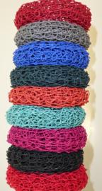 Armband papiergaren, donker oranje of donker groen