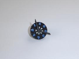 Ring blauw wit