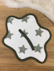 Speendoekje mosterdgroen met sterren