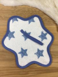 Speendoekje blauw met sterren