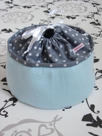 Commodemandje blauw grijs