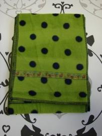 Sjaal limegroen met hertjes, maat M