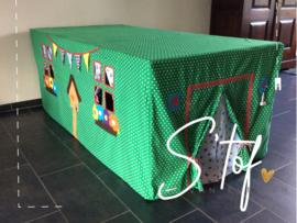 Voorbeeld tent groen met uiltjes