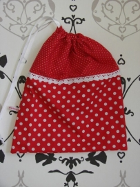Pyjamazakje rood witte stip