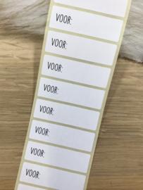 Sticker Voor...