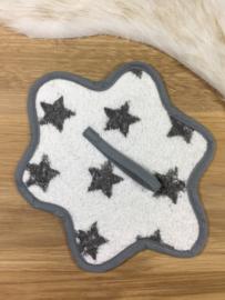 Speendoekje grijs met sterren