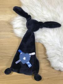 Tutpopje donkerblauw met ster