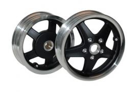 Vespa wielset LX/LXV/S zwart mat/ gepolijste rand DMP
