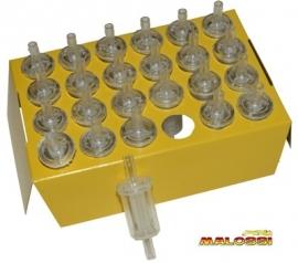 Benzinefilter 1e kwaliteit Malossi 5mm aansluiting