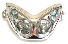 Koplamp Aerox halogeen 4 lampen chroom Dmp