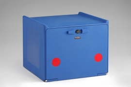 Pizzakoffer compleet geisoleerd 90 liter blauw