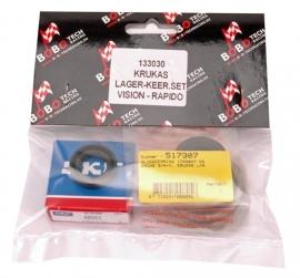 Krukas lager/keeringset Bobo Peugeot Rapido / Honda Vision 2t