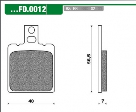Remblokken voor/achter Rs oud Newfren FD 0012