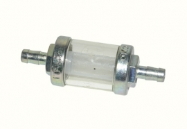 Benzinefilter 1e kwaliteit 6 mm transparant en demontabel