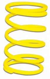 Drukveer geel Malossi 297045.Y0 Minarelli horizontaal / vertikaal. Versterkt.