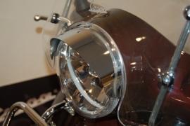 Vespa LX koplamprandje chroom met luifel Dmp