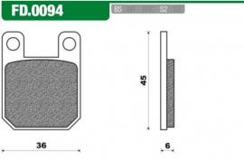 Remblokken Rs div modellen achter, Rx achter Newfren FD0094