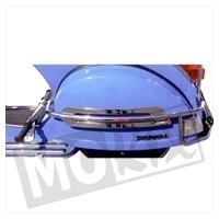 Vespa PX 125 / 150 Achtervalbeugels chroom met duosteun Faco