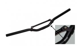Stuur scooter mat zwart + mat zwarte spijl Dmp
