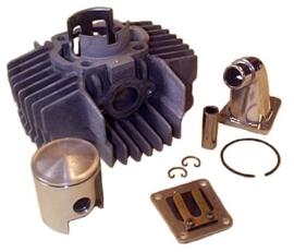 Cilinderkit 43,50 mm aluminium / nikasil met membraan Polini