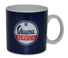 Vespa mok Servizio blauw