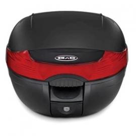 Topkoffer + slede afneembaar Shad SH 33 zwart/rood