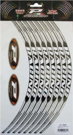 Wheelstripe Progrip 8 stuks Wit