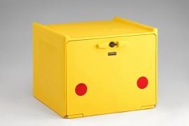 Pizzakoffer compleet geisoleerd 90 liter geel