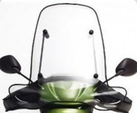 Peugeot windscherm Vivacity oud model Smoke 66cm origineel