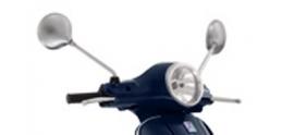 Spiegelset LX chroom type zonder schroefdraad origineel