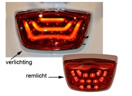 Vespa LX, S, LXV LED achterlicht rood Dmp