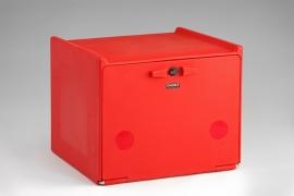 Pizzakoffer compleet geisoleerd 90 liter rood