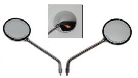 Spiegelset LXV chroom met schroefdraad origineel
