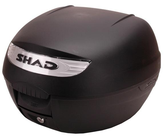 Topkoffer + slede afneembaar Shad SH 26 zwart/grijs