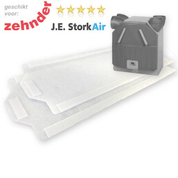 1 set WTW filters voor Zehnder JE Stork Air WHR 90/91