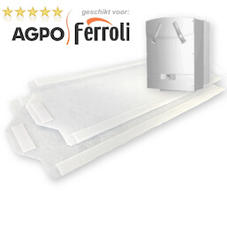 100 WTW filter sets voor Agpo Ferroli HR OptiFor