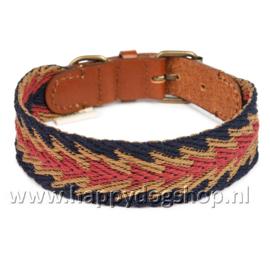 Buddys Dogwear Halsband Peruvian Blue Arrow Maat S