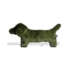 Hondenknuffel Teckel Olijf Groen