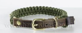 Molly & Stitch halsband Military Maat L