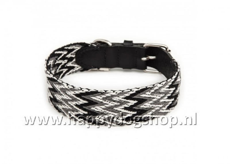 Buddys Dogwear Halsband Peruvian Zwart Maat L