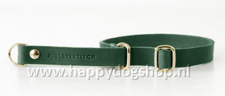 Molly & Stitch Retriever Halsband Forest Green