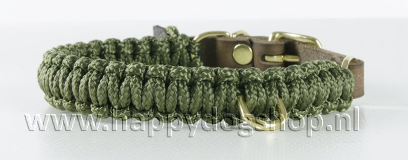 Molly & Stitch halsband Military Maat XS
